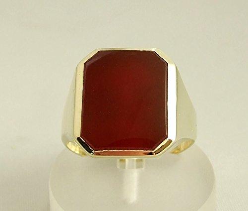 Christian Gouden Ring met carneool