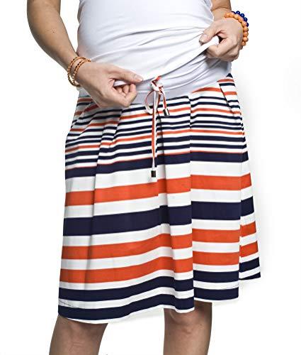 Torelle Damen Umstandsrock Baumwolle, Modell: NISSI, Streifen, L