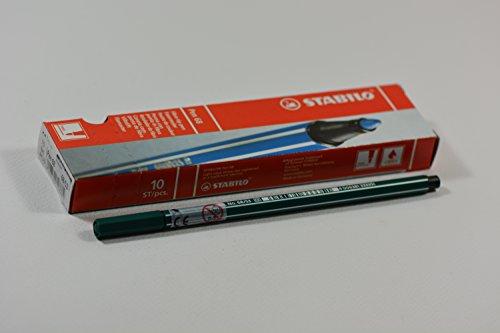 Stabilo Pen 68 – Set di 10 pennarelli a punta media Verde turquesa