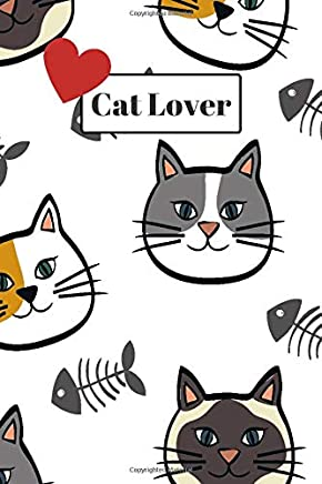 Cat Lover: 110 page, blank lined journal notebook for cat lovers