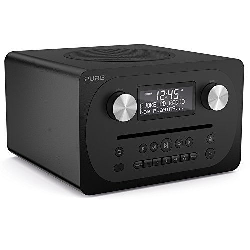 Pure Evoke C-D4 all-in-one muziekinstallatie (CD, DAB+ digitale, FM-radio, Bluetooth incl. afstandsbediening) walnoot C-D4 zwart (Sienna)
