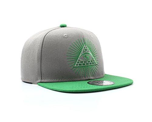 True Heads grau grün Illuminati Snapback Baseball Cap