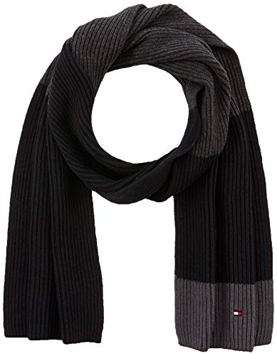 Tommy Hilfiger Pima Cotton Scarf Cb Set di accessori invernali, Nero, OS Uomo