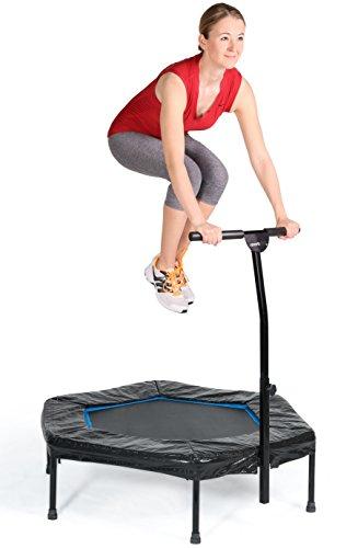 SportPlus Trampolín Fitness con Mango Regulable – Cama Elástica ...