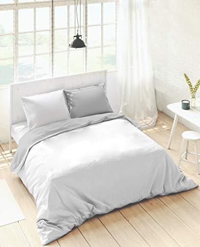 Bettdeckenbezug Naturals Weiß Grau - Bett 200 cm (280 x 270 cm)