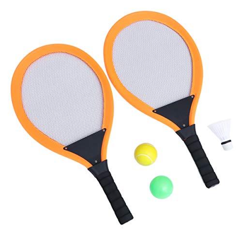 Conjunto de raquete de badminton infantil com 2 peças da Besportble, kit de raquete de tênis de badminton com bola para crianças, brinquedo de exercício interativo, presente para iniciantes
