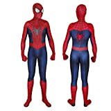 JiaMan HT Unisex Lycra Spandex Zentai Halloween Cosplay Costumes Adult/Kids 3D Style, Dark Blue, Adult-M(Height:63-65 Inch)
