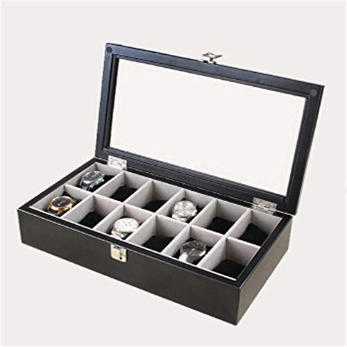 Caja De Reloj Caja De JoyeríA De Madera Maciza De 12 Ranuras Caja De Almacenamiento De Reloj Caja De Almacenamiento Regalo De CumpleañOs De Boda del DíA De San ValentíN (Color: C3, TamañO: 37X20X8Cm)