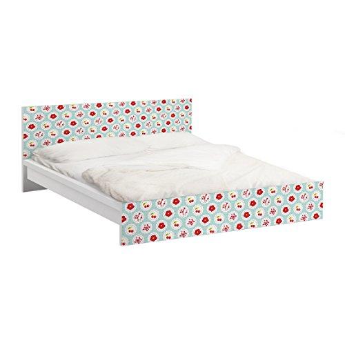 Apalis Möbelfolie für IKEA Malm Bett niedrig 140x200cm Kirschen Design 77x157cm
