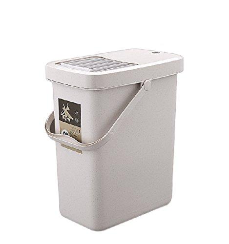 XZG creatieve prullenbak, draagbare vierkante thee emmer thee lag emmer thee prullenbak kan huishoudelijke grootte aantal Drainage emmer thee ceremonie afval water vat 7-10L thuis