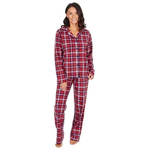 386e00953 Best Deals Direct Ladies Check Print Long Sleeve Fleece Pyjamas Thermal  Lounge Wear