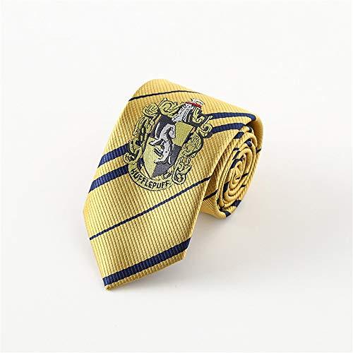 Necktie [Corbatas de Harry Potter] Cosplay para hombres Muñeca de grifos Cuervo Cuff Hafflucci Slytherin Negocio Trabajo Caza Bodas Ceremonia de boda Ceremonia de graduación Segunda fiesta Fiesta de b