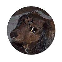 HAYOE ペット ウォールクロック 時計 壁 掛時計 25cm アクリル PVC 装飾 リビング インテリア 新築祝い 誕生日 開店祝い