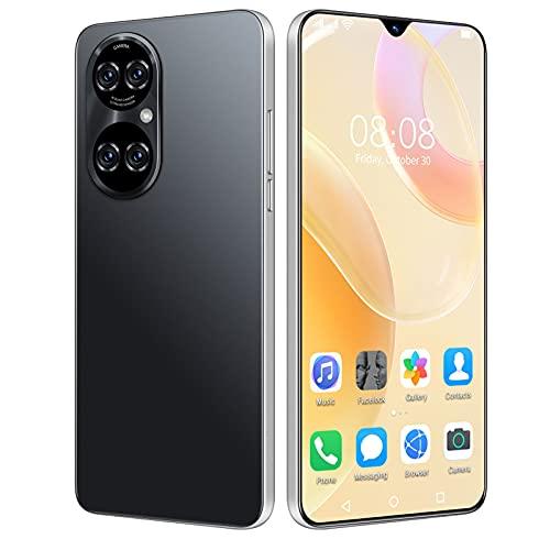 JYSSH Teléfono Móvil Libre, P50pro Smartphone 4G Android 10.0 Dual SIM 6,7 Pulgadas 8GB RAM+256GB ROM 6800mAh Cámara cuádruple de 32MP Face ID, WiFi+BT+FM,Octa-Core,Black-US