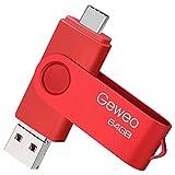 Memoria USB Pendrive 64gb 3.0, Pendrive USB C 64gb 3 en 1 Tipo C/Micro/USB 3.0 Memoria Flash 64 GB para Smartphones Android, Windows, Android, PC, Tabletas, Almacenamiento de Datos Externo etc (Rojo)