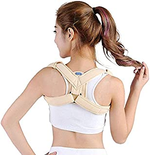 JCM Children's Clavicle with Scapular Fracture Fixation with Adult Kyphosis Correction Shoulder Correction Hunchback with Chest Correction ZJ (Color : White, Size : M)