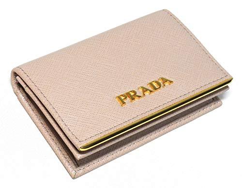 PRADA(プラダ)名刺入れメタルバーピンクベージュサフィアーノ1MC122_QME_F0236