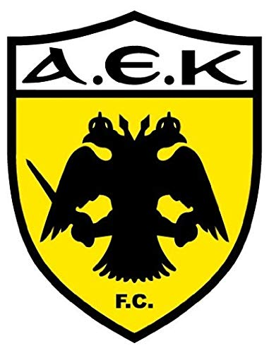 AEK FC Athens Soccer Football - Sticker Graphic - Auto, Wall, Laptop, Cell, Truck Sticker for Windows, Cars, Trucks
