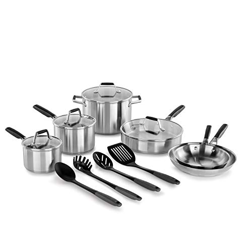 Select by Calphalon Stainless Steel Deluxe Cookware Set, 14 Piece