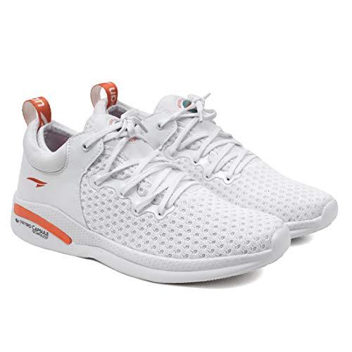 ASIAN CRETA-12 Running Shoes for Men I Sport Shoes for Boys Memory Foam Insole White