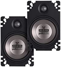 Polk Audio DB461P 4×6-Inch Coaxial Plate-Style Speakers (Pair, Black)