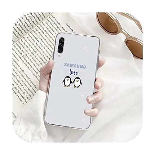 anime lindo pingüino teléfono caso transparente para Samsung S9 S10 S20 Huawei honor P20 P30 P40 xiaomi note mi 8 9 pro lite plus-a2-xiaomi mi 10t