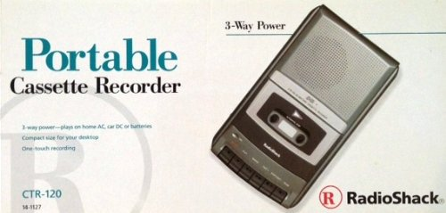Radio Shack Portable 3 Way Cassette Recorder CTR-120