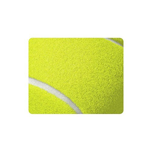 N\A decoración del hogar Pelota de Tenis Fresca Textura Comodidad Cubierta de Tela Antideslizante Alfombrilla de ratón Rectangular