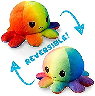 Stuffed & Plush Animals - Multi-colored And Styles Double-Sided Flip Reversible Octopus Plush Toy Marine Life Stuffed Anim...