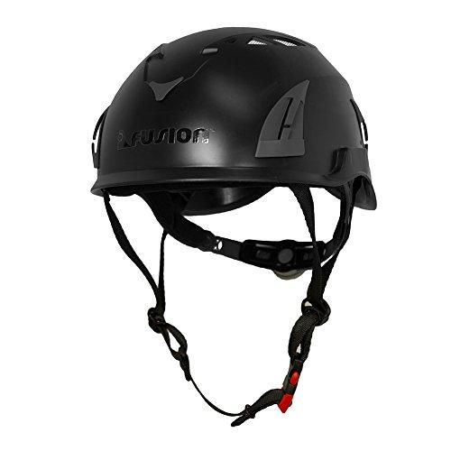 Fusion Climb Meka II Climbing Bungee Zipline Mountain Construction Safety Protection Helmet Black