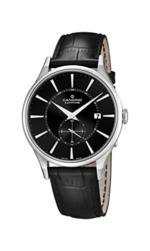 Candino Herren Analog Quarz Uhr mit Leder Armband C4558/4