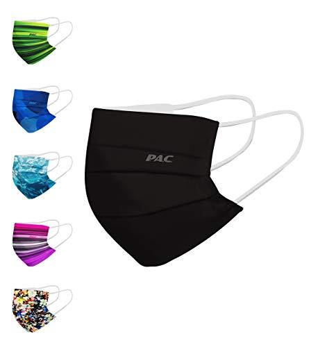 P.A.C. Premium Community-Maske, Mund- & Nasenmaske, Behelfsmaske, Alltagsmaske, Waschbar bis 90°, Einfach aufziehen, Nasenbügel und Filtertasche, OEKO-TEX 100, Wiederverwendbar