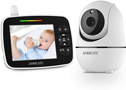 Baby Monitor with Remote Pan Tilt Zoom Camera 3 5 Large Display Video Baby Monitor with Camera product image