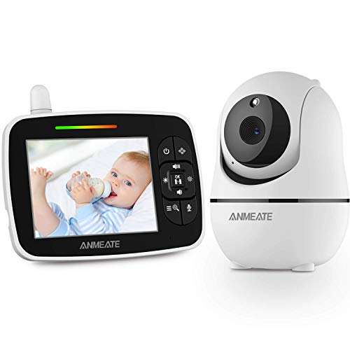 "Baby Monitor with Remote Pan-Tilt-Zoom Camera, 3.5"" Large Display Video Baby Monitor with Camera and Audio 