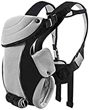 Baby Carrier for Newborn to Older Toddler (8-20 lbs), Bable Baby Backpack Carrier with Vents for Traveling Hiking Flying, All Seasons Baby Kangaroo Carrier Shower Gift for Baby Boys or Girls, Black