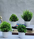 Home Decor Flowers & Vases Artificial Plants Mini Size For Table , Study Table, Office Table