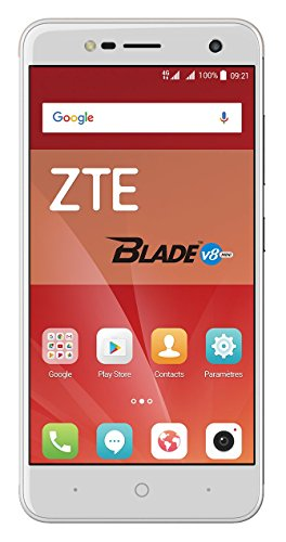 ZTE Blade V8 Mini Smartphone (12,7 cm (5 Zoll) Bildschirm, 16 GB Speicher, Dual-SIM, Android 7.0) Silber
