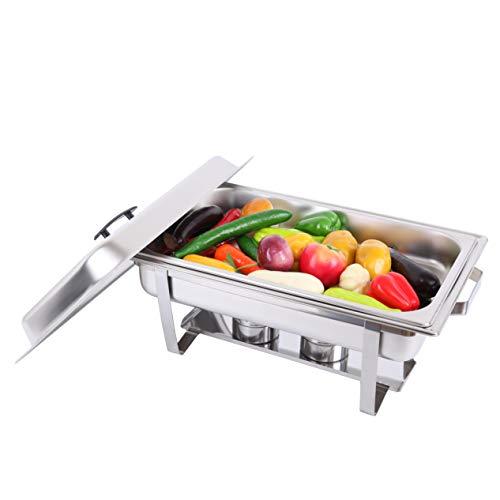 Samger Chafing Dish Acero inoxidable Calentador de comida Servidor Buffet 9L