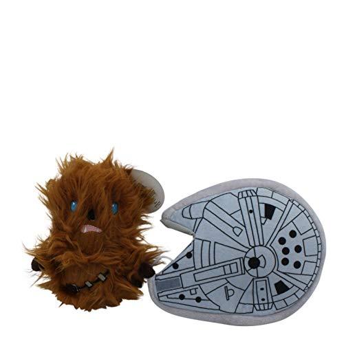 Star Wars Chewbacca Hundespielzeug aus Plüsch, weich, mit Quietschelement, Stofftier, braun