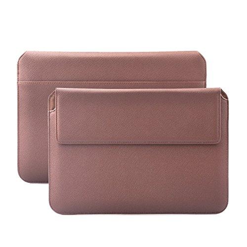 iCues Schutzhülle kompatibel mit Samsung Galaxy Tab S6 Lite / S6 / S5e / S3 / S2 Tasche | Apple iPad 6/5 / Air 2 Hülle | 8.0 bis 10.5 Zoll Tablets Piquante Etui Hippo Braun | Sleeve Leder Hülle