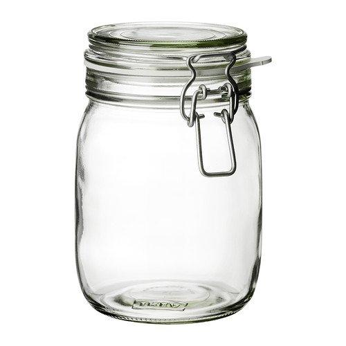 KORKEN/ふた付き容器/クリアガラス(サイズ1L)[イケア]IKEA(30213547)