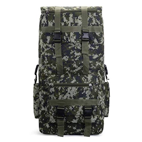 HUAAT -110L to 120L Large Capacity Outdoor Military Tactical Backpack Waterproof Breathable Oxford Camo Rucksack Travel Climbing Bag DIY (Color : Digital Camo, Size : A)