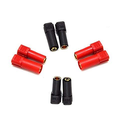 YOWOO POWER 10 Pares Amass XT60 XT-60 Macho Hembra Conectores de Bala Tapones 20 Pares de Tubo Contracci/ón de Calor RC Lipo Bater/ía