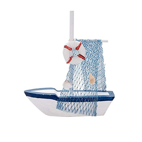 Vosarea Modellschiff Mediterraner Stil Segelschiff Desktop Holz Handwerk Ornamente Dekoration 2 Stücke (Rettungsring)