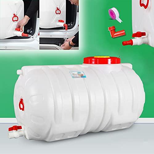 WWJQ Envase Agua Que Acampa Horizontal, Cubo de Agua Portátil para Exteriores, Bidón Plástico Grande Resistente, Antienvejecimiento, 190L 250L 320L