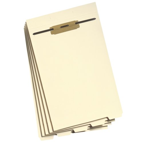 Smead Stackable Folder Divider with Fastener, Bottom 1/5-Cut Tab, Legal Size, Manila, 50 per Box (35650)