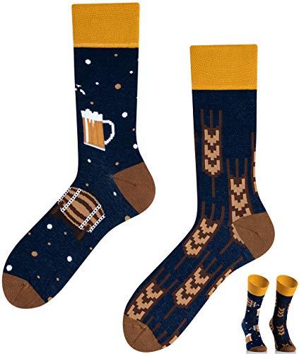 TODO Colours Lustige Socken mit Motiv - Mehrfarbige, Bunte, Verrückte für die Lebensfreude (Kaltes Craft Bier, numeric_43)