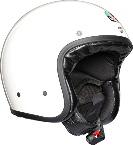 AGV X70 Agv E2205 Solid Casco Moto, Unisex - Adulto, Bianco, XL