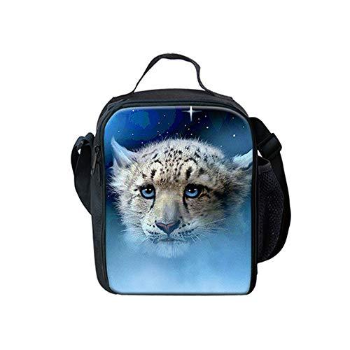 fhdc Rucksäcke Leopard Muster 3D Tier Schultaschen Frauen Kinder 3 Teile/Satz Rucksäcke Lebensmittel TascheFedermäppchenKinder JungenSchulranzen Hmc1401G