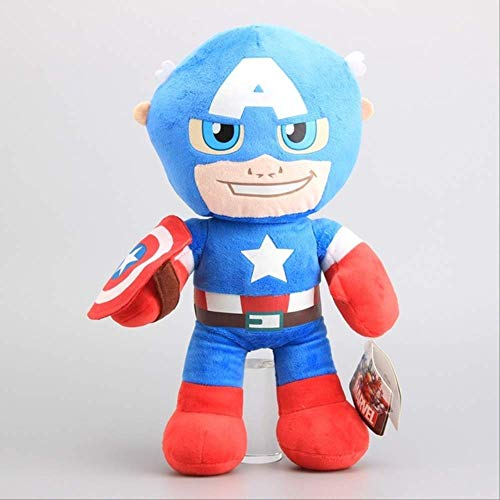 qwermz Peluche, Vengadores Hulk Iron Man Thor Superhéroes Capitán América Peluche Muñecas De Peluche Niños Peluches 38cm Capitan America